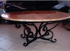 table-metale-marbre