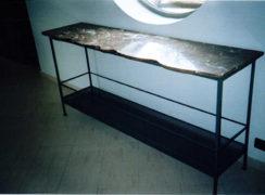 table-en-metale-marbre-console